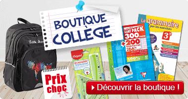 Rentrée scolaire : boutique collège