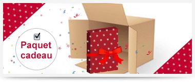 Réalisation de votre paquet cadeau avant l'envoi du colis