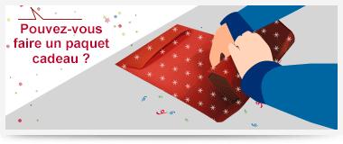 Réalisation de vos paquets cadeaux en magasin