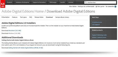 Installer Adobe Digital Editions