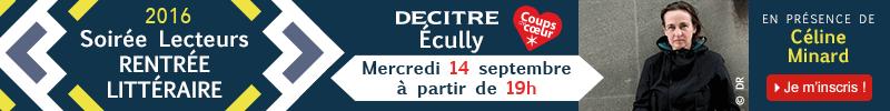 Inscription soirée rentrée littéraire Decitre Ecully