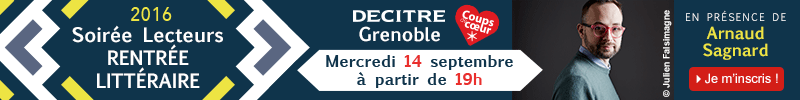 Inscription soirée rentrée littéraire Decitre Grenoble