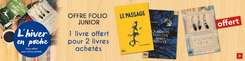 Offre Folio Junior : un livre offert pour 2 achetés