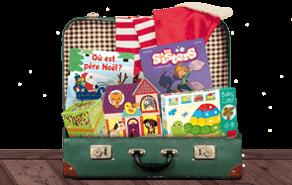 Valise avec cadeaux